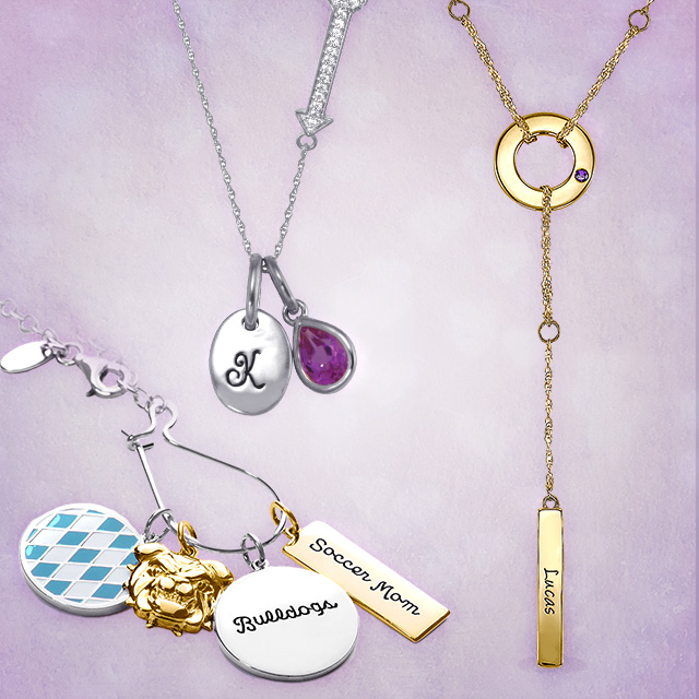 VDay AC Personalized Necklaces