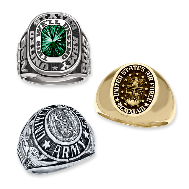 Mens Military Rings Landing Page