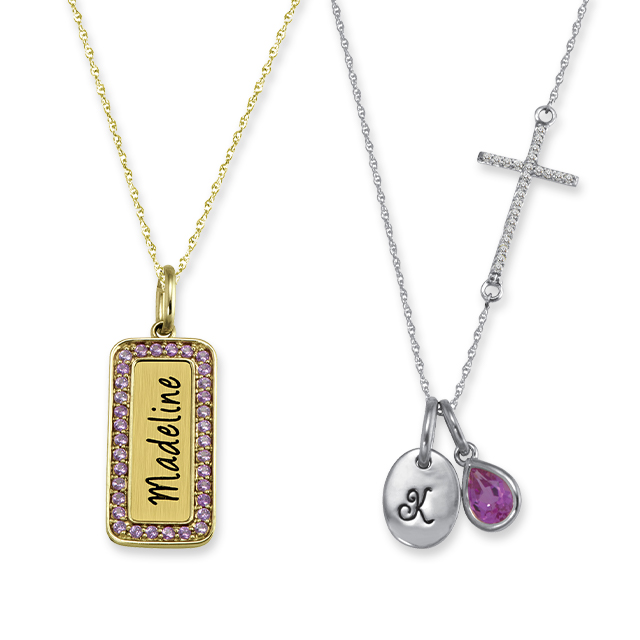Name and Initial Necklaces
